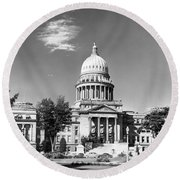 Idaho State Capitol Building Round Beach Towel