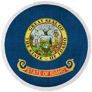 Idaho State Flag Round Beach Towel by Pixel Chimp