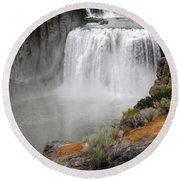 Idaho Waterfall Round Beach Towel