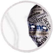 Identity Fraud Concept Mask Round Beach Towel