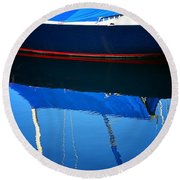 Idle Waters Round Beach Towel