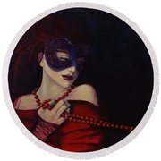 Idyll Round Beach Towel by Dorina  Costras