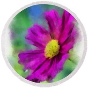 If Flowers Could Talk 01 Round Beach Towel