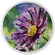 If Flowers Could Talk 04 Round Beach Towel