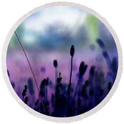If I Had A Purple Crayon ... Round Beach Towel