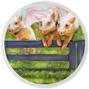 If Pigs Could Fly Round Beach Towel by Jane Schnetlage