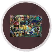 If There Is No Flour There Is No Torah 9 Round Beach Towel