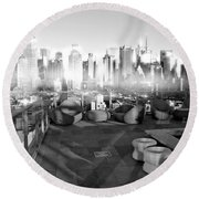 Check Please Round Beach Towel by Diana Angstadt