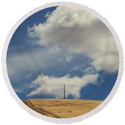 If You Wanna Run Away Round Beach Towel by Laurie Search