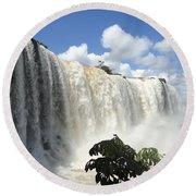 Iguacu Falls Round Beach Towel