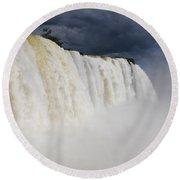 Iguacu Falls Majesty Round Beach Towel