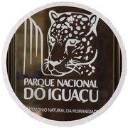 Iguacu National Park - Brazil Round Beach Towel