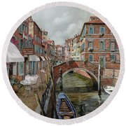 Il Fosso Ombroso Round Beach Towel by Guido Borelli