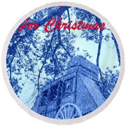 I'll Be Home For Christmas Round Beach Towel