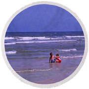 I'll Watch Over You Round Beach Towel
