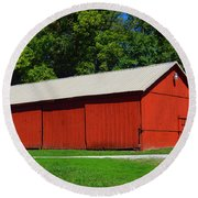 Illinois Red Barn Round Beach Towel