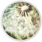 Illuminated Wishes Round Beach Towel