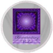 Illuminating Violet Round Beach Towel