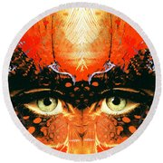 I'm Looking Through You Round Beach Towel