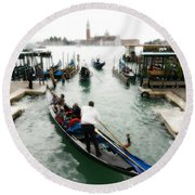 Images Of Venice 10 Round Beach Towel