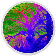 Imaginary Forest Number Two Round Beach Towel