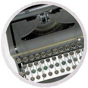 Imagination Typewriter Round Beach Towel