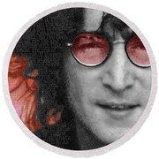 Imagine John Lennon Again Round Beach Towel
