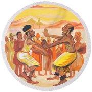 Imbiyino Dance From Rwanda Round Beach Towel