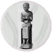 Imhotep, 27th Century B.c Round Beach Towel