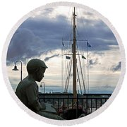 Immortalized Round Beach Towel