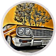 Impala Love Round Beach Towel