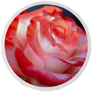 Imperfect Rose Round Beach Towel