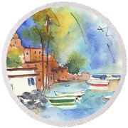 Imperia In Italy 02 Round Beach Towel