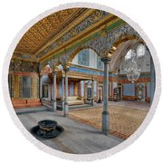 Imperial Hall Of Harem In Topkapi Palace Round Beach Towel