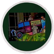 Imperial Laundry Truck Round Beach Towel
