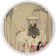 Imperial Procession Round Beach Towel by Georges Barbier