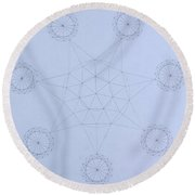 Impossible Parallels Round Beach Towel