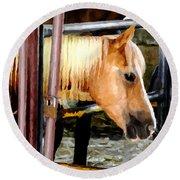 Impressionist Horse Round Beach Towel
