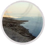 Impressionist Of The Dead Sea Round Beach Towel