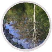 Impressionist Reflections Round Beach Towel