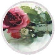 Impressionistic Watercolor Roses, Romantic Watercolor Pink Rose  Round Beach Towel