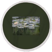 Impressions Of Monet's Water Lilies  Round Beach Towel