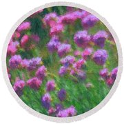 Impressions Of Purple Round Beach Towel