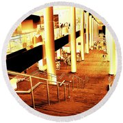 In A City Of Gold Round Beach Towel