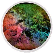 In A Colorful World Round Beach Towel