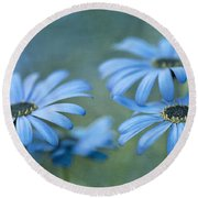In A Corner Of A Garden Round Beach Towel by Priska Wettstein