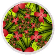 In A Flower Meadow Round Beach Towel