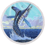 In Contention Off0049 Round Beach Towel by Carey Chen