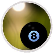 In Front Of The Eight Ball Round Beach Towel