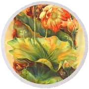 In Full Bloom Round Beach Towel
